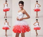 Angel Princess Tutu Bridesmaid Cocktail Formal Occasion Prom Party Short Dresses