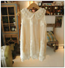 Girl Designer Pearl Lace Vintage Cream Dress Wedding Summer Party 2-7 Next Day