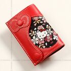 Hello Kitty Cowhide Leather Key Case Ring Cherry Blossom Sanrio from Japan Gift