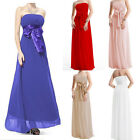 Sexy Bridesmaid Dress Strapless Evening Dresses Party Formal Prom Ball Gown 8-18