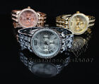 New 2014 Style White Crystal stainless steel case Wrist watch For Man and Woman