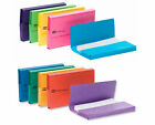 Pack 10 Strong Board Document Wallets Folders Colours High Capacity A4+ Foolscap