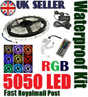 5M 5050 RGB SMD LED Strip Strips Light IR Remote Controler Power Supply Adapter