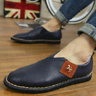 Men's Casual Leather Slip Ons Loafers Work Dress Driving Moccasins Shoes A636