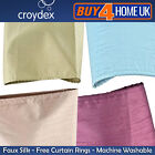 Faux Silk Shower Bathroom Curtain - 1800mm x 1800mm with 12 FREE Curtain Rings