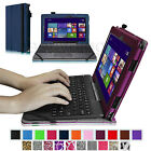 "Leather Case Cover for ASUS Transformer Book T100 10.1"" Tablet w Keyboard Holder"