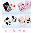 Water Transfer Nail Art Sticker Decal Cow Print Poker Cards Polka Dots Hearts