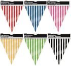 Unique Assorted Colours Striped Plastic Party Flag Bunting Pennant Banner - 3.65
