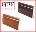 125mm Ogee Torus UPVC Architrave 2 x 2.5Mtr Golden Oak Rosewood, Black Ash Grain