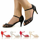 NEW WOMENS ANKLE STRAP TOP SANDALS HIGH HEEL DIAMANTE STYLE LOOK SHOES SHOP SIZE