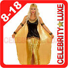 New Ladies Egyptian Goddess Cleopatra Queen Fancy Dress Up Costume Party Sequin