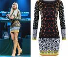 NEW WOMENS LADIES SIZE (8-14) CELEBRITY NICKI MINAJ VERSACE PRINT LEOPARD DRESS