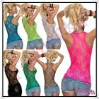 Sexy Women's Lace Vest Top Ladies Summer Casual Tank Top One Size 6,8,10,12 UK