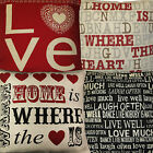 """Love,Home is Where Heart is,Live Well,Tapestry Cushion Covers 18""""x18"""" 45x45cm"""