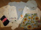 NWT Gymboree Vintage Sunflower Baby blue Skirt,Cardigan,White Blouse Girl 7 UPic