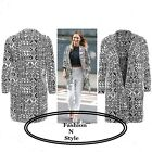 WOMENS LADIES CELEB SAM FAIERS AZTEC PRINT LONG BLAZER JACKET CARDIGAN DRESS TOP