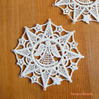 2 pcs: Christmas Theme Embroidery Lace Applique Star Angel & X'mas Bell
