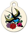 Pet ID Name Tag Tattoo Sparrow Bird Personalised Customised Dog Cat Name Tag