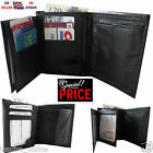 NEW MENS SOFT QUALITY REAL GENUINE LEATHER WALLET COIN PURSE CREDIT CARD HOLDER