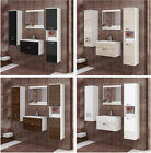 Bathroom Furniture Set Mirror Wall Mounted Tall Low Cabinet Cupboard Sink Unit