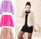 Women's Mohair Sequins Cardigan Fashion Coat Super Soft Jacket one Size fit 6-12