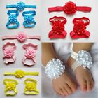 Kids Girls Baby Toddler Infant Foot Flower Headband Hair Bow Clip Accessories