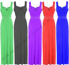 NEW WOMENS DIAMENTE LONG EVENING MAXI PARTY DRESS LADIES SLEEVELESS PLUS SIZE