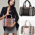 Fashion Plaid Messenger Splicing Color Handbag Shoulder Bags Hobo Satchel