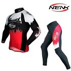 Sobike Cycling Suits Men's Long Sleeve Jersey & Tights Pants-Roaring Flame Red