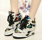 Breathable Vogue Ladies Athletic Street Lace-Up Faux Suede High Top Casual Shoes