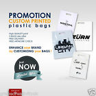 Custom Printed Personalised Plastic Carrier Bags with company logo - MEDIUM SIZE