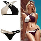 2Pcs Sexy Bandeau Beach Bikini Push Up Bra Swimwear Swimsuit Halter Cut-out