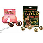Gold Vibro Balls Ben Wa Balls Kegal Exercise Vaginal Weights