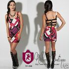 Womens Juniors Ultra SexyTribal Colorful Aztec Printed Dress Slinky Cut Outs
