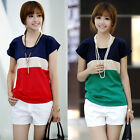 New Women European Style Chiffon Blouse Short Sleeve Tops Casual Loose T-Shirt