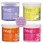 THE HIVE WAX WAXING POTS 425g  warm honey, creme, pink, tea tree, lavender