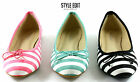 LADIES WOMENS BOW SLIP-ON PUMPS BALLERINA BALLET DOLLY FLAT SHOES SIZE MLH2071