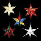 Christmas Foil Ceiling Decoration Hanging Large Star-  5 Colours