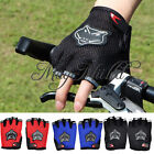 Outdoor Cycling Bicycle Mountain Riding Bike Antiskid Gel Half Finger Gloves Q