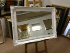"""2"""" ORNATE WHITE SWEPT SHABBY CHIC STYLE WALL AND OVERMANTLE MIRRORS"""