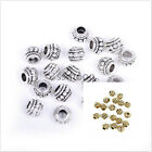 Retro Golden Silver Stone Findings Big Hole Spacer Beads For Hot Jewelry Making