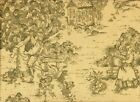 """French Country Toile Document Green 90"""" Round Tablecloth ..."""