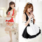 Sexy Lingerie Women Halloween Costume French Maid Cosplay Servant Fancy Dress