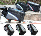 """CYCLING BIKE BICYCLE FRAME FRONT TUBE BAG HOLDER PANNIER FOR 4.8"""" MOBILE PHONE"""