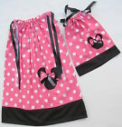 """MINNIE MOUSE 2 Pillowcase Dresses Girl (Size 4-12) & Doll Dress (18"""") Easter Cel"""