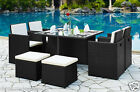 Rattan Outdoor Garden Furniture Set High Quality Weather Proof Dining Set Patio