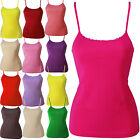 New Womens Plain Vest Sleeveless Top Strappy Cami Ladies Plus Size All Size 8-20