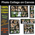 Your Photo Collage Canvas 100% Cotton - Personalised on Box