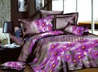 Purple Spring 3pc Duvet Cover Set: Duvet Cover and Pillowcases (Queen/King)