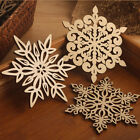 Wooden Snowflake Coasters Holder Coffee Tea Drinks Chic Cup Mat
